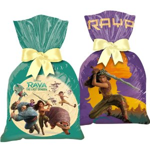 Sacola Plástica para Lembrança Festa Raya e o Último Dragão - 12 unidades - Regina - Rizzo Embalagens