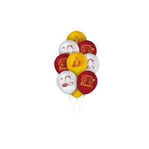 """Balão Latex Redondo 9"""" Festa Homem de Ferro - 25 unidades - Regina - Rizzo"""