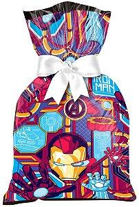 Sacola Plástica para Lembrança Festa Homem de Ferro - 12 unidades - Regina - Rizzo