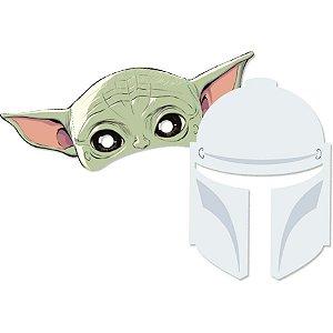 Máscara de Papel Festa Star Wars Mandalorian  - 06 unidades - Regina - Rizzo Embalagens