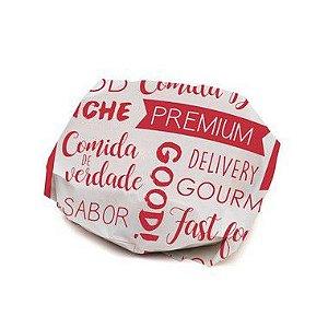Papel Manteiga 35X25 cm Vermelho com 100 un Cromus Delivery Rizzo