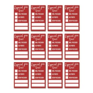 Etiqueta Adesiva Especial para Você Vermelho com 24 un. Cromus Delivery Rizzo
