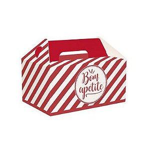 Caixa Kit Lanche Vermelho 20X13,5x10 com 50 un Cromus Delivery Rizzo