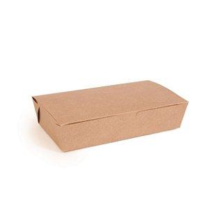 Caixa para Porção Kraft 12,8X9x5 com 50 un Cromus Delivery Rizzo