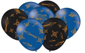 Balão Festa Naruto Azul e Preto - 25 unidades - Festcolor - Rizzo Festas