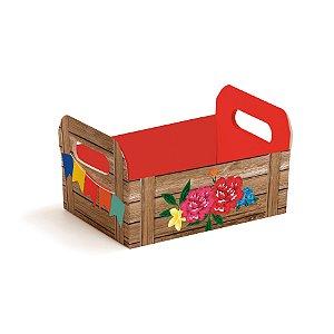 Caixote de Cartão Festa Junina - 01 unidade - Cromus - Rizzo Embalagens