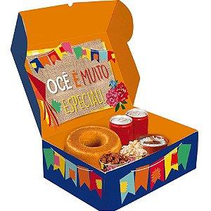 Festa na Caixa Festa Junina - Grande - 01 unidade - Cromus - Rizzo Embalagens