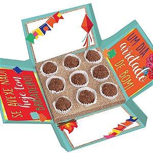 Caixa Surpresa para Docinhos Festa Junina - 10 unidades - Cromus Rizzo Embalagens