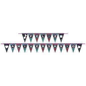 Faixa Feliz Aniversário Festa TikTok - 01 unidade - Junco - Rizzo Embalagens