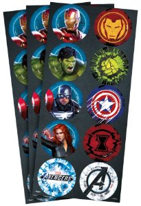 Adesivo Redondo Festa Avengers Gamer Verse - 30 unidades - Regina - Rizzo