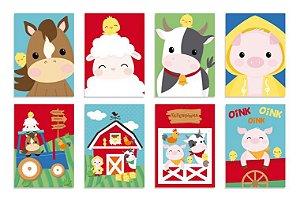 Cartaz Decorativo Festa Fazendinha - 08 unidades - Cromus - Rizzo Embalagens