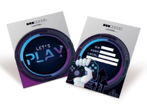 Convite de Aniversário Festa Gamer Level Up - 08 unidades - Cromus - Rizzo Embalagens