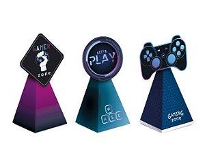 Caixa Cone para Lembrancinha Festa Gamer Level Up - 08 unidades - Cromus - Rizzo Embalagens