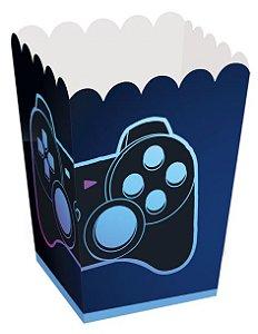 Caixa de Pipoca Festa Gamer Level Up - 10 unidades - Cromus - Rizzo Embalagens
