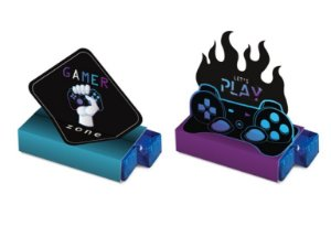 Caixa Bis Composê Festa Gamer Level Up - 08 unidades - Cromus - Rizzo Embalagens