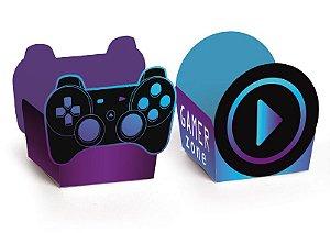 Forminha para Doce Reta Festa Gamer Level Up - 24 unidades - Cromus - Rizzo Embalagens
