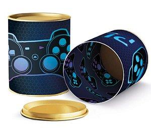 Lata para Lembrancinhas Festa Gamer Level Up  - 11x9cm - 01 unidade - Cromus - Rizzo Embalagens