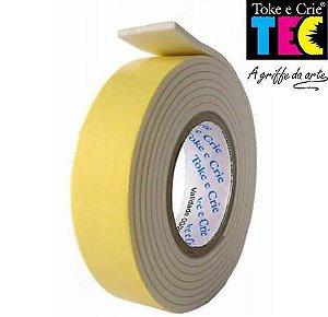 Fita Dupla Face Adesiva Espuma 19mm x 1,5m - 01 Unidade - Toke e Crie TEC - Rizzo Embalagens