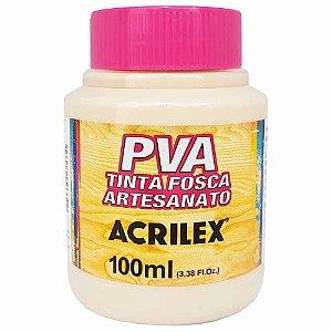 Tinta Fosca Artesanato PVA 100ml - Areia R817 - 1 unidade - Acrilex - Rizzo