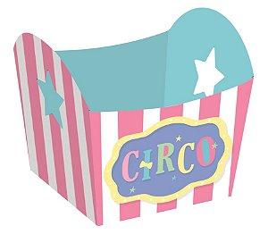 Mini Cachepot Festa Circo Rosa - 10 unidades - Cromus - Rizzo Embalagens