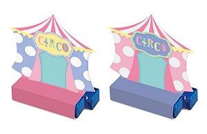 Caixa Bis Festa Circo Rosa - 08 unidades - Cromus - Rizzo Embalagens