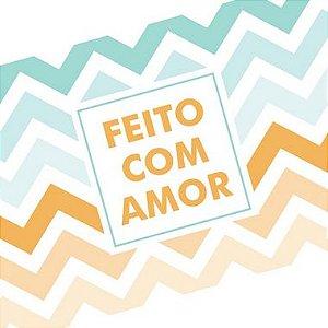 Tira Decorativa Feito com Amor - Tam P / M / G - 5 unidades - Rizzo
