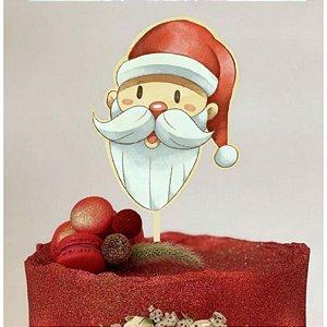 Topo de Bolo Natal Papai Noel Glitter Sonho Fino Rizzo