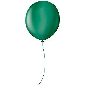 """Balão Profissional Premium Uniq 16"""" 40cm - Verde Floresta - São Roque - Rizzo Embalagens"""