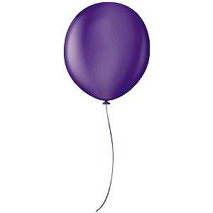 "Balão Profissional Premium Uniq 16"" 40cm - Roxo Purple - São Roque - Rizzo Embalagens"