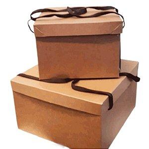 Caixa Premium com Alça de Cordão - Festa na Caixa - Kraft em 2 tamanhos - Rizzo