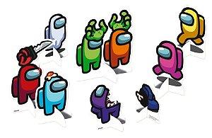Decoração de Mesa Festa Among Us - 08 unidades - Festcolor - Rizzo Embalagens