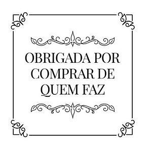 Carimbo Artesanal Obrigada por Comprar de quem Faz - Cod.RI-057 - Rizzo Embalagens