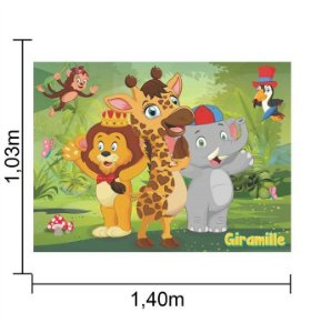 Painel TNT Grande Giramille Mod 2 - 1,40x1,03m - Piffer - Rizzo Embalagens