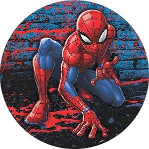 Painel Sublimado Redondo em Tecido Homem Aranha 1,55m -01 unidade - Piffer- Rizzo Embalagens