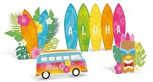 Silhueta Decorativa de Mesa Festa Havaiana - 04 unidades - Cromus - Rizzo