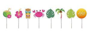 Pick Decorativo para Docinhos Festa Havaiana - 12 unidades - Cromus - Rizzo