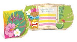 Convite de Aniversário Festa Havaiana - 08 unidades - Cromus - Rizzo
