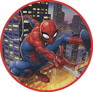 Painel TNT Redondo Homem Aranha - 1,0x1,0m - 01unidade - Piffer - Rizzo Embalagens