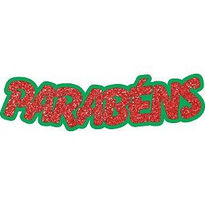 Painel Decorativo PARABÉNS em EVA - Glitter 71x20cm -01 unidade - Piffer-  Rizzo Embalagens