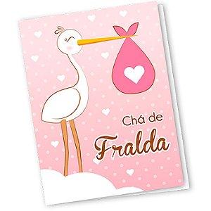 convite Chá de Fralda - 10 unidades - Regina - Rizzo
