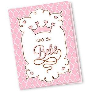 Convite de Chá de Bebê Rosa - 10 unidades - Regina - Rizzo