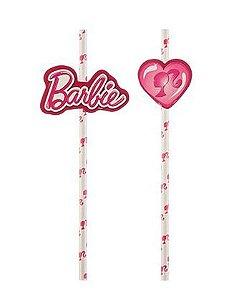 Canudo de Papel com Efeite da Barbie - 08 unidades - Regina - Rizzo