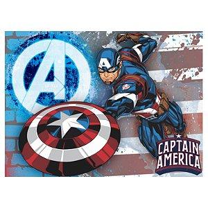 Painel Grande TNT Vingadores - Capitão América -1,40x1,03cm - Piffer - Rizzo Embalagens