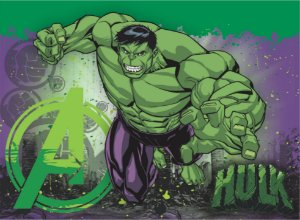 Painel Grande TNT Vingadores - Hulk -1,40x1,03cm - Piffer - Rizzo Embalagens