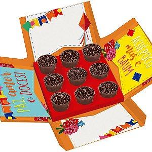 Caixa Surpresa para Docinhos no Copo Festa Junina - 1 unidades - Cromus Rizzo