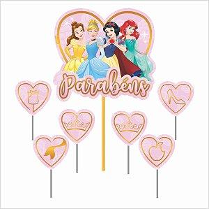 Topo de Bolo Impresso - Princesas Disney - 01unidade - Piffer - Rizzo Embalagens