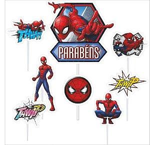Topo de Bolo Impresso - Homem Aranha - 01unidade - Piffer - Rizzo Embalagens