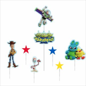 Topo de Bolo Impresso - Toy Story - 01unidade - Piffer - Rizzo Embalagens