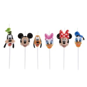 Vela Turma Mickey Colorida Disney Silver Festas Rizzo