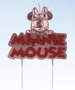 Vela Minnie Metalizada Rose Gold Disney Silver Festas Rizzo